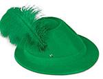 Green Velour Alpine Hat
