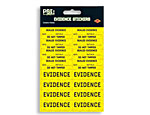 Party Scene Investigation Evidence Stickers