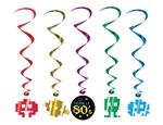 80's Foil Swirl Danglers