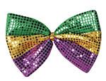 Jumbo Mardi Gras Glitz 'N Gleam Bow Tie