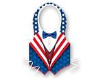 Plastic Patriotic Vests
