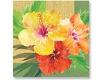 Exotic Floral Beverage Napkins