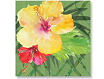 Exotic Floral Luncheon Napkins