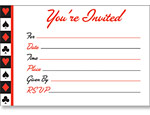 Card Night Post Card Invitations