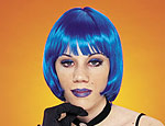 Blue Sassy Wig