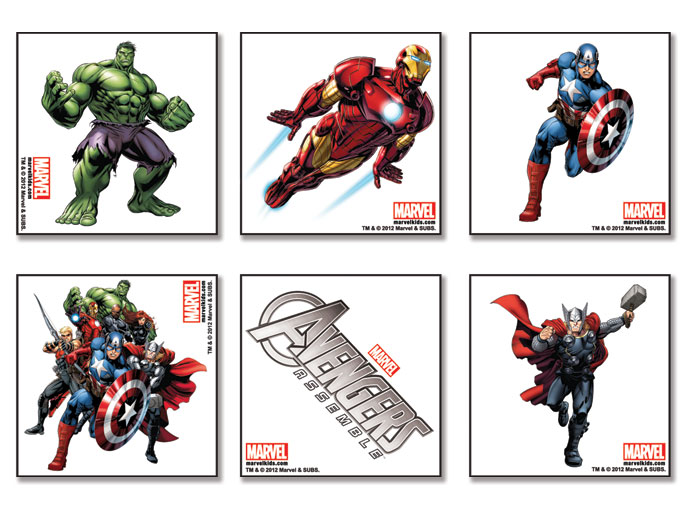 4FunParties.com - Avengers Assemble Tattoos