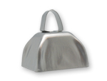 3 inch Silver Cowbell