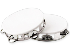 Imprinted Small Silver Tambourine