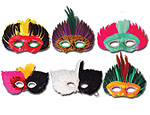 Assorted Indian Feather Masks