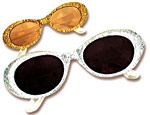 Glitter Retro Glasses Assorted