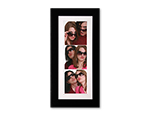 "2"" x 6"" Black and White Cardboard Photo Frame"