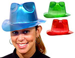 Metallic Fedoras Assorted