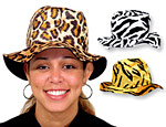 Faux Animal Bucket Hats Assorted