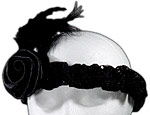 Black Roaring 20's Sequin Headband