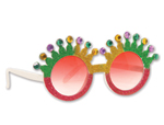 Mardi Gras Crown Glasses