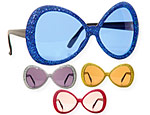 Glamour Glitter Glasses Assorted