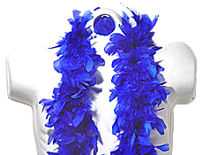 6 Foot  Blue Deluxe Boa