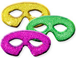 Purple/Green/Gold Mardi Gras Sequin Masks