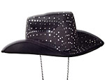 Black Sequin Cowboy Hat
