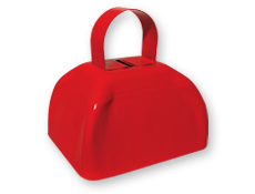 6 inch Jumbo Cow Bell - Red