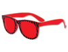 CHECKERED GLASSES - RED