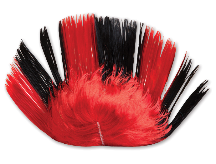 Red And Yellow Mohawk Wigs 46