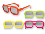 Pixel Mirrored Lens Glasses Assortment