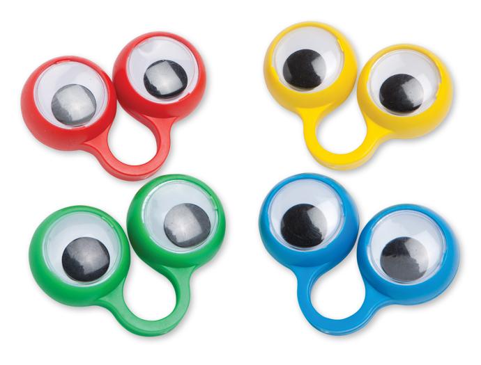 Plastic Googly Eye Rings