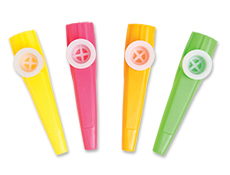 4 inch Assorted Neon Kazoos