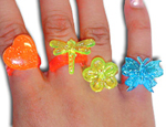 Glitter Spring Rings-Assorted
