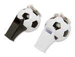 Soccer Ball Whistle Keychains