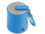 Mini Bluetooth Speaker with Keychain Clip - Blue