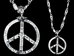 Peace Sign Bling Bling Necklace