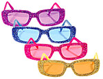 Funky Glitter Glasses (4 Assorted)