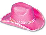Pink Felt Sequin Cowboy Hat
