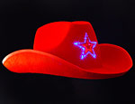 Flashing Red LED Cowboy Hat