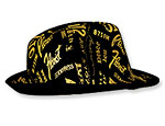 Gold Print Gangster Hat