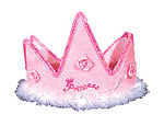 Princess Pink Plush Crown