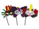 Feather Masks with Sticks