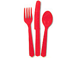 Red Cutlery Pack