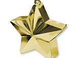 Gold Star Balloon Weight