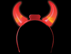 Light Up Devil Horns Headband