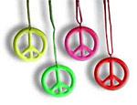 Neon Peace Necklaces