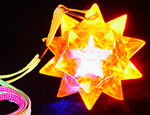 LED Blinking Star Ball Necklace