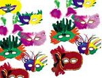 Assorted Feathered Masks