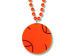 Basketball Medallion with Beads