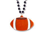 Football Medallion with Beads
