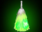 Green Light Up Pom Pom