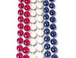 33 inch Red White & Blue Beads