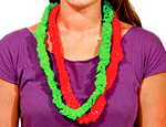 Red & Green Leis